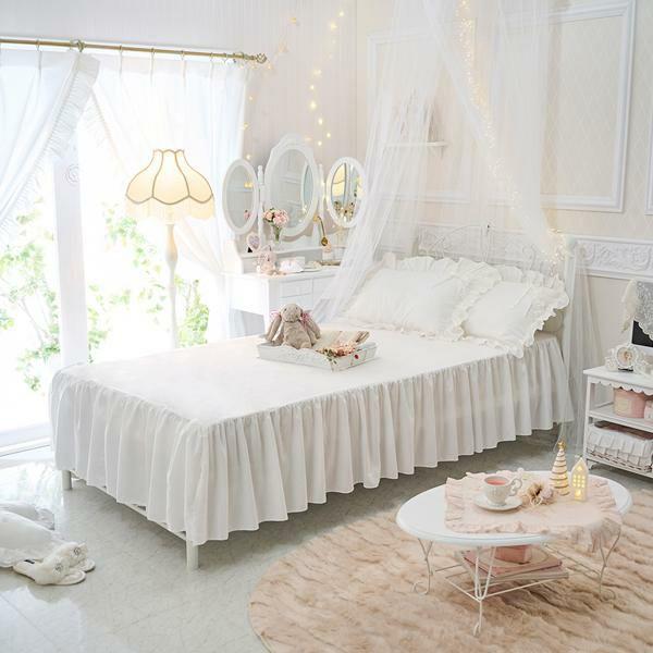 シンプルベッドスカート(シングル・ホワイト)